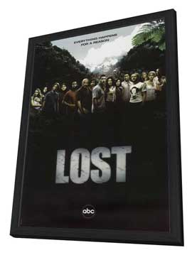 Lost (TV) - 27 x 40 TV Poster - Style Q - in Deluxe Wood Frame