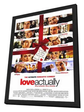 Love Actually - 27 x 40 Movie Poster - Style A - in Deluxe Wood Frame