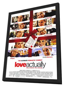 Love Actually - 11 x 17 Movie Poster - Style A - in Deluxe Wood Frame