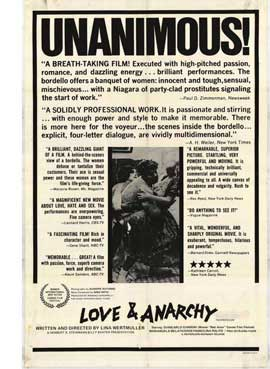 Love and Anarchy - 11 x 17 Movie Poster - Style A