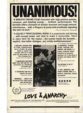 Love and Anarchy - 27 x 40 Movie Poster - Style A