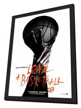 Love and Basketball - 11 x 17 Movie Poster - Style B - in Deluxe Wood Frame
