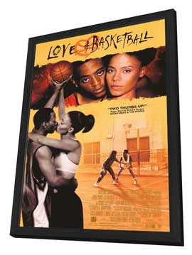 Love and Basketball - 27 x 40 Movie Poster - Style C - in Deluxe Wood Frame