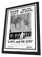 Love and Death - 27 x 40 Movie Poster - Style A - in Deluxe Wood Frame