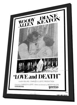 Love and Death - 11 x 17 Movie Poster - Style A - in Deluxe Wood Frame