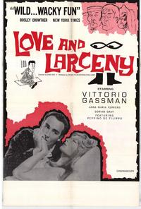 Love and Larceny - 11 x 17 Movie Poster - Style A