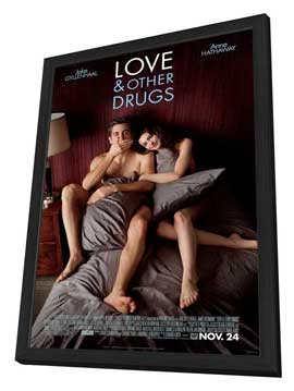 Love and Other Drugs - 27 x 40 Movie Poster - Style A - in Deluxe Wood Frame
