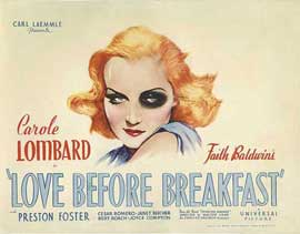 Love Before Breakfast - 11 x 17 Movie Poster - Style B