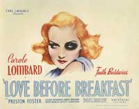 Love Before Breakfast - 11 x 14 Movie Poster - Style A