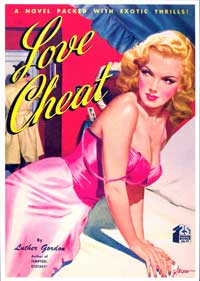 Love Cheat - 11 x 17 Retro Book Cover Poster