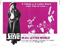 Love in a 4 Letter World - 11 x 14 Movie Poster - Style A