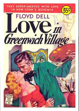Love in Greenwich Village - 11 x 17 Retro Book Cover Poster