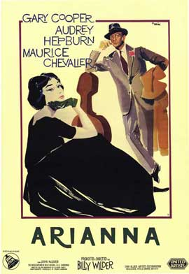 Love in the Afternoon - 11 x 17 Movie Poster - Italian Style A