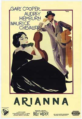 Love in the Afternoon - 27 x 40 Movie Poster - Italian Style A