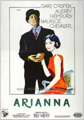Love in the Afternoon - 27 x 40 Movie Poster - Italian Style B