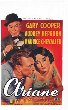 Love in the Afternoon - 11 x 17 Movie Poster - Belgian Style A