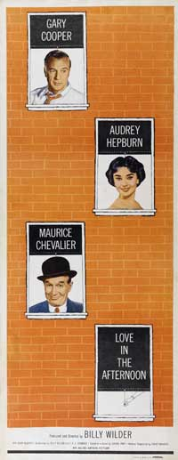 Love in the Afternoon - 14 x 36 Movie Poster - Insert Style A