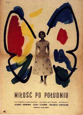 Love in the Afternoon - 11 x 17 Movie Poster - Polish Style A