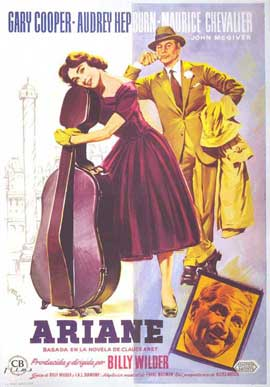 Love in the Afternoon - 11 x 17 Movie Poster - Spanish Style B