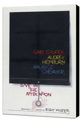 Love in the Afternoon - 27 x 40 Movie Poster - Style A - Museum Wrapped Canvas