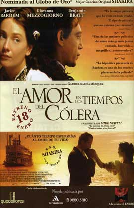 Love In the Time of Cholera - 11 x 17 Movie Poster - Spanish Style A