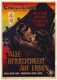 Love is a Many Splendored Thing - 27 x 40 Movie Poster - German Style A