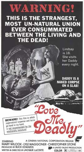 Love Me Deadly - 11 x 17 Movie Poster - Style B