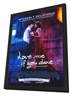 Love Me If You Dare - 11 x 17 Movie Poster - Style A - in Deluxe Wood Frame