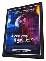 Love Me If You Dare - 27 x 40 Movie Poster - Style A - in Deluxe Wood Frame