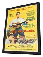 Love Me Tender - 27 x 40 Movie Poster - Style B - in Deluxe Wood Frame
