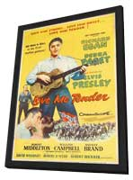 Love Me Tender - 11 x 17 Movie Poster - Style D - in Deluxe Wood Frame