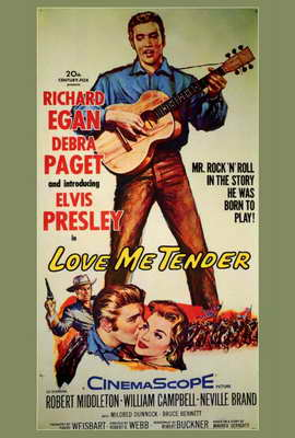 Love Me Tender - 27 x 40 Movie Poster - Style A