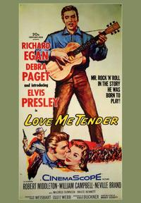 Love Me Tender - 43 x 62 Movie Poster - Bus Shelter Style A