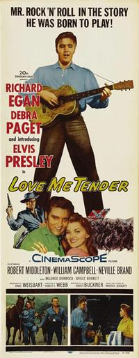 Love Me Tender - 14 x 36 Movie Poster - Insert Style B