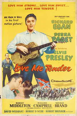 Love Me Tender - 27 x 40 Movie Poster - Style B