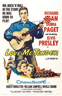 Love Me Tender - 43 x 62 Movie Poster - Bus Shelter Style B