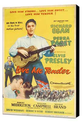 Love Me Tender - 27 x 40 Movie Poster - Style B - Museum Wrapped Canvas