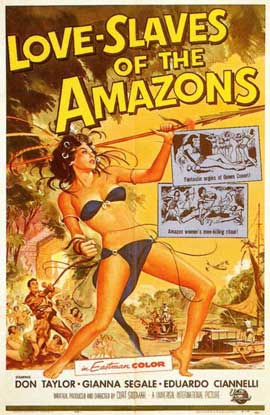 Love Slaves of the Amazons - 11 x 17 Movie Poster - Style A