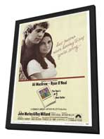 Love Story - 27 x 40 Movie Poster - Style A - in Deluxe Wood Frame