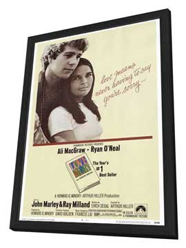 Love Story - 11 x 17 Movie Poster - Style A - in Deluxe Wood Frame