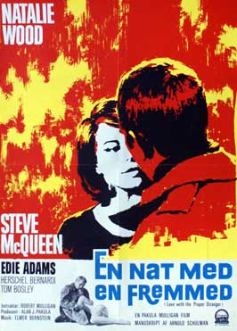 Love with the Proper Stranger - 11 x 17 Movie Poster - Danish Style A