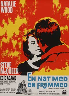 Love with the Proper Stranger - 27 x 40 Movie Poster - Danish Style A