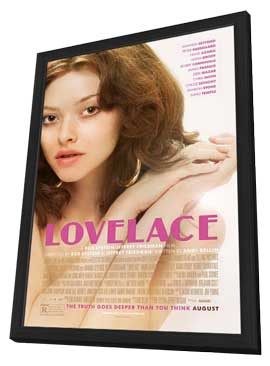 Lovelace - 27 x 40 Movie Poster - Style A - in Deluxe Wood Frame