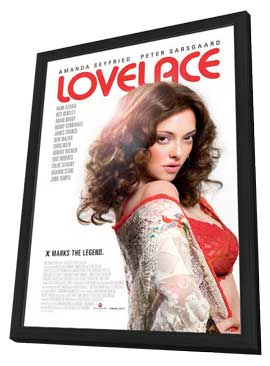 Lovelace - 27 x 40 Movie Poster - Style B - in Deluxe Wood Frame
