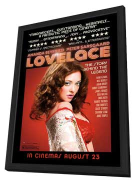 Lovelace - 11 x 17 Movie Poster - UK Style A - in Deluxe Wood Frame