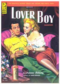 Lover Boy - 11 x 17 Retro Book Cover Poster