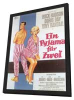 Lover Come Back - 11 x 17 Movie Poster - German Style A - in Deluxe Wood Frame