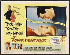 Lover Come Back - 22 x 28 Movie Poster - Half Sheet Style A