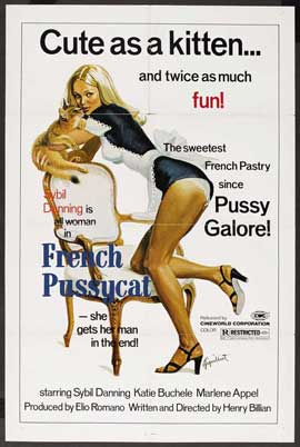 Loves of a French Pussycat - 11 x 17 Movie Poster - Style B