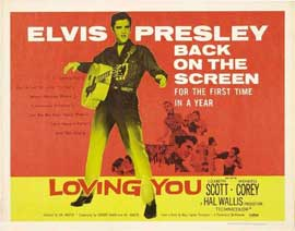 Loving You - 22 x 28 Movie Poster - Half Sheet Style A